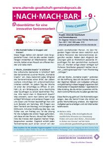 Ideenblatt: Kontakt halten per Posträtsel und Telefon