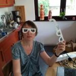 Meine Fundstücke beim Seniorentag: Selbstversuch Osteoporose/ Seh-Behinderungen